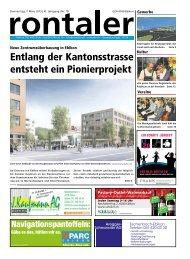 Entlang der Kantonsstrasse entsteht ein Pionierprojekt - Halter AG