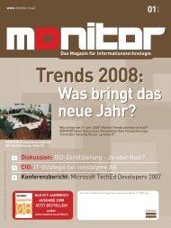 Die komplette MONITOR-Ausgabe 1/2008 können Sie hier ...