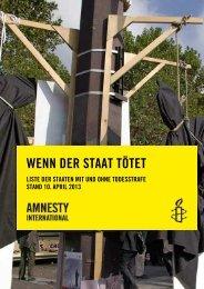 WENN DER STAAT TÖTET - Amnesty gegen die Todesstrafe