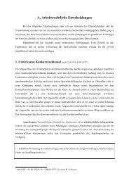 A. Arbeitsrechtliche Entscheidungen - LexisNexis ARD Orac