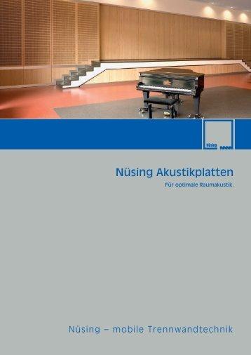 Nüsing Akustikplatten - Eurodivisal