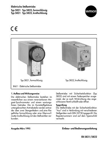 Elektrische Stellantriebe Typ 5821 ⋅ Typ 5822 ... - Samson