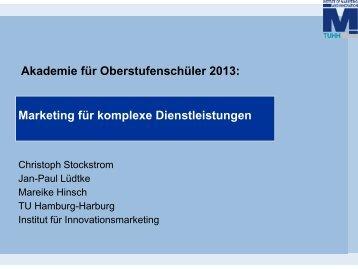 Marketing für komplexe Dienstleistungen - Akademie für ...
