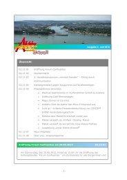 Newsletter 02 2013 - Alle lieben Koblenz Stadtforum eV