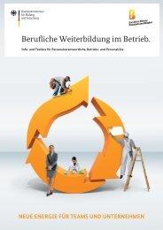 Berufliche Weiterbildung im Betrieb. Info- und Toolbox für ...
