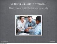 VERKAUFSLEISTUNG STEIGERN - MFM Marketing für Menschen