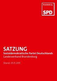 SATZUNG - SPD-Landesverband Brandenburg