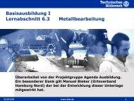Metallbearbeitung - THW Gst Straubing