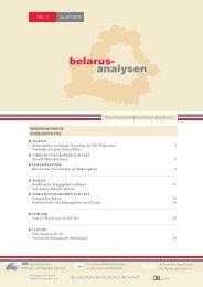 BelARUs-ANAlYseN NR. 2, 26.07.2011 - Laender-Analysen