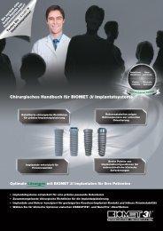 Chirurgisches Handbuch für BIOMET 3i Implantatsysteme