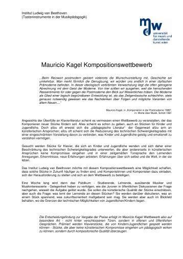 Mauricio Kagel Kompositionswettbewerb - cIMeC