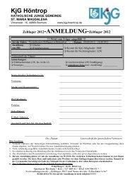 Zeltlager 2012-ANMELDUNG-Zeltlager 2012 - Die KjG in Höntrop