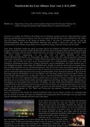 Tourbericht der Last Alliance Tour vom 2.-8.11.2009 - Ingrimm