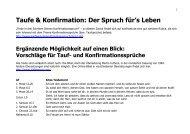 Sprueche Taufe Konfirmation - Kirchenkreis Obere Nahe