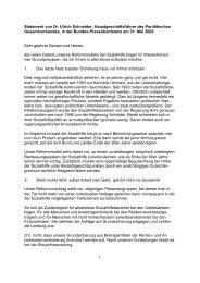 1 Statement von Dr. Ulrich Schneider, Hauptgeschäftsführer des ...