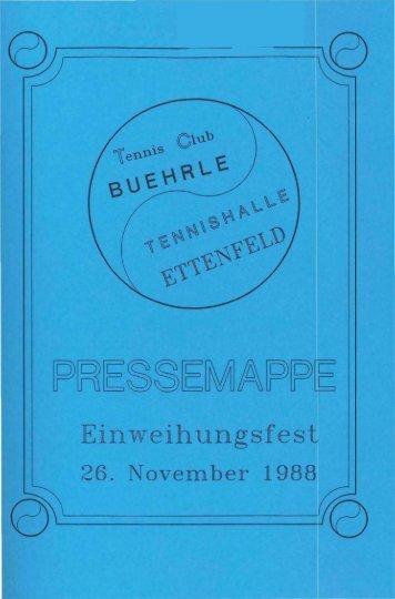 Einweihung Halle - Tennis-Club Bührle