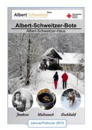 Ausgabe 01-2013 (PDF) - Albert-Schweitzer-Haus
