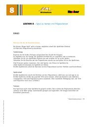 LEKTION 8 – Spiel zu Verben mit Präpositionen BINGO - Hueber