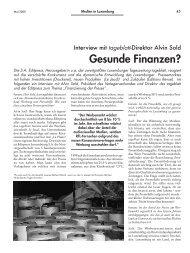 Gesunde Finanzen? - Forum – für Politik, Gesellschaft und Kultur ...