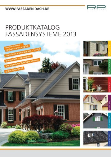PRODUKTKATALOG FASSADENSYSTEME 2013