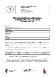FORMULARIO DE INSCRIPCIÓN AL II TALLER DE CATA DE VINOS