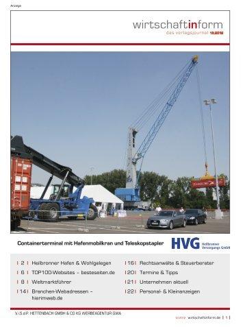 Heilbronner Hafen & Wohlgelegen I wirtschaftinform.de 12.2012