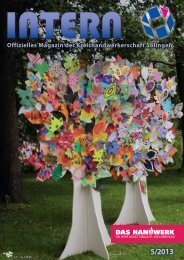 Offizielles Magazin der Kreishandwerkerschaft Solingen