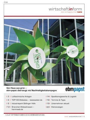 Lufttechnische Anlagen I wirtschaftinform.de 10.2012
