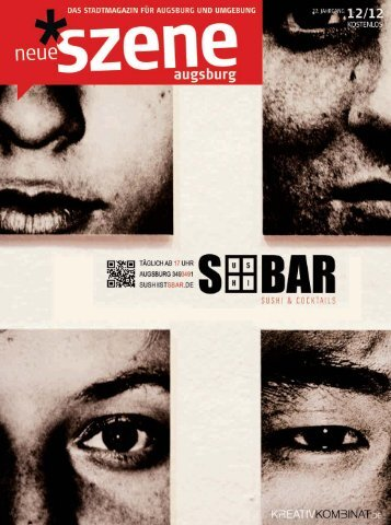 Stadtmagazin Neue Szene Augsburg 2012-12