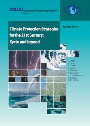 Climate Protection Strategies for the 21st Century: Kyoto ... - WBGU
