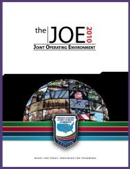 The Joint Operating Environment (JOE) 2010 - The Association for ...