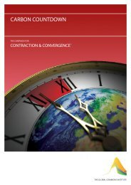CARBON COUNTDOWN - Global Commons Institute