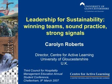 Leadership for Sustainability - Global Commons Institute