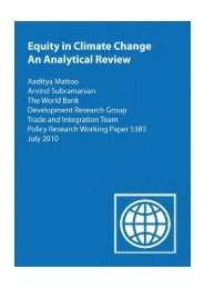 Equity in Climate Change An Analytical Review Aaditya Mattoo ...