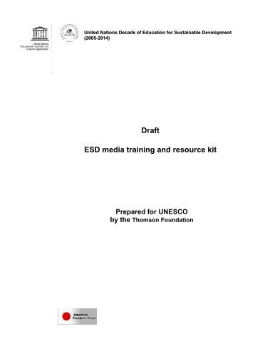Draft ESD Media Training And Resource Kit - IUCN