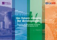the future climate for development - Forum for the Future
