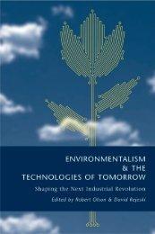 ENVIRONMENTALISM& THE TECHNOLOGIES OF TOMORROW ...
