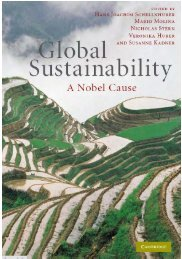A Nobel Cause on C&C - Global Commons Institute