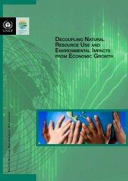 Decoupling Natural Resource Use and Environmental Impacts