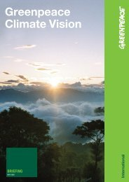 Greenpeace Climate Vision
