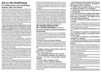 September - Gesellschaft für Christlich-Jüdische Zusammenarbeit in ...
