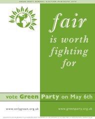 Manifesto - Green Party