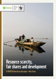 Resource scarcity, fair shares and development - WWF UK