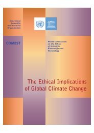 UNESCO - The Ethical Implications of Climate Change - Global ...