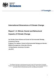 Ethical, social and behavioral impacts of climate change - Dius.gov.uk