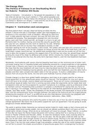 The Energy Glut - Global Commons Institute