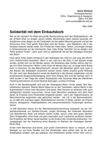 Solidarität mit dem Einkaufskorb - ORKA - Organisierung und ...