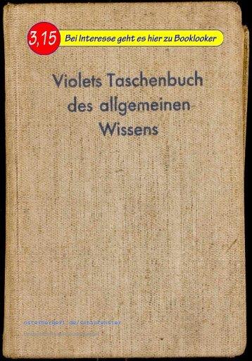 Asmus Verlag Violets Taschenbuch des allgemeinen Wissens