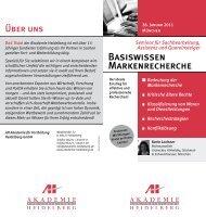 Basiswissen Markenrecherche - AH Akademie für Fortbildung ...