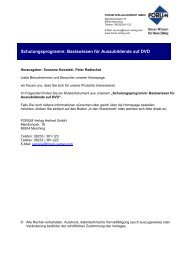 Schulungsprogramm: Basiswissen für Auszubildende auf DVD - Forum ...